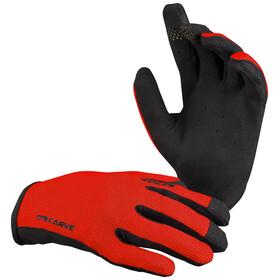 IXS Carve Gloves Kids, fluor red
